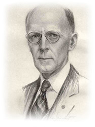 Rotary Founder, Paul Harris - Charcoal Drawing by: Rotarian John Doctoroff of Chicago 1927